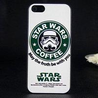 Чехол накладка для iPhone 5 Star wars coffee