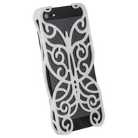Накладка Chrome Butterfly Case White для iPhone 5 / 5s / SE белая бабочка