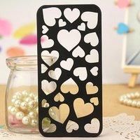 Накладка черная Case для iPhone 5s / SE / 5  сердце