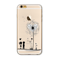 Чехол накладка для iPhone 5 / 5s / SE одуванчик