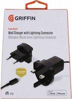 Сетевое зарядное устройство Griffin 8-pin Lightning 0.9м USB: 5V 1A Черный