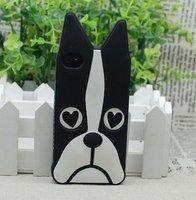 Силиконовый чехол накладка Marc by Marc Black Dog для iPhone 5s / SE / 5 собака