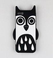 Силиконовый чехол накладка Marc by Marc Black Owl для iPhone 5s / SE / 5 сова