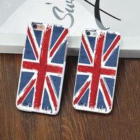 Пластиковая накладка для iPhone 5c флаг Великобритании ретро