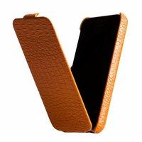 Кожаный чехол Borofone для iPhone 5c оранжевый крокодил - Borofone Crocodile  flip Leather case Orange