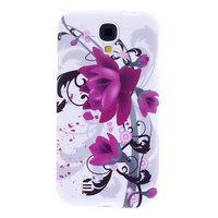 Силиконовый чехол для Samsung Galaxy S4 фиолетовые цветы
