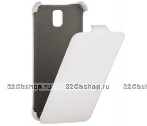 Белый чехол книжка Armor Case для Samsung Galaxy Note 4