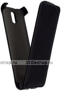 Черный чехол книжка Armor Case для Samsung Galaxy Note 4 черный