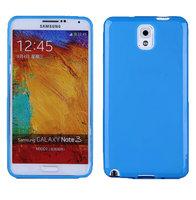 Силиконовый чехол для Samsung Galaxy Note 3 N9000 голубой