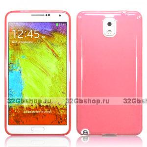 Силиконовый чехол для Samsung Galaxy Note 3 N9000 розовый