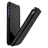 Кожаный чехол для iPhone 5/5s / SE - HOCO Earl Classic Black