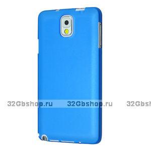Супертонкий чехол для Samsung Galaxy Note 3 N9000 голубой пластик