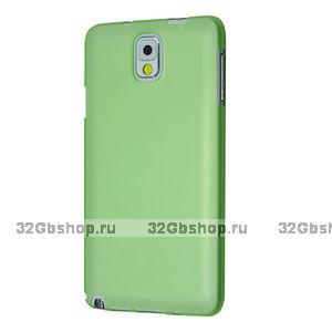 Супертонкий чехол для Samsung Galaxy Note 3 N9000 зеленый пластик