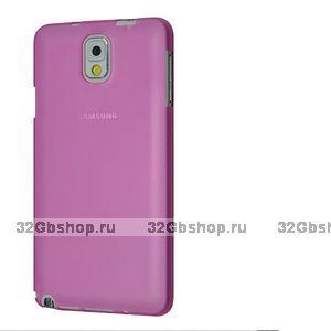 Супертонкий чехол для Samsung Galaxy Note 3 N9000 розовый пластик