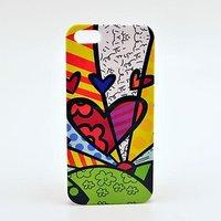 Чехол накладка для iPhone 5 / 5s / SE граффити сердце