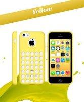 Чехол накладка для iPhone 5c силикон желтый