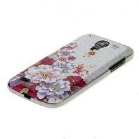 Накладка для Samsung GT-I9190 Galaxy S4 Mini объёмный рисунок с цветами