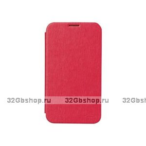Чехол книжка Flip Case для Samsung Galaxy Note 3 N9000 ярко-розовый