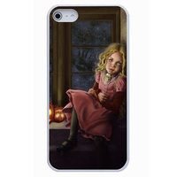 Чехол накладка для iPhone 5 / 5s / SE Helloween девочка у окна