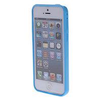 Пластиковый бампер для iPhone 5c голубой