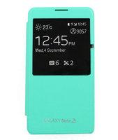 Чехол-обложка S View Cover для Samsung Galaxy Note 3 N9000 зеленый мятный чехол с окошком