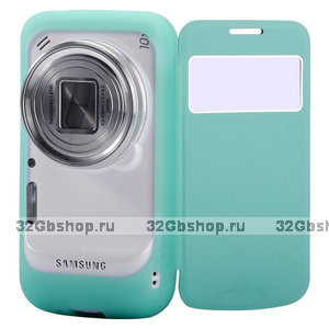 Чехол футляр книга Baseus для Samsung SM-C101 Galaxy S4 Zoom с окном New Age бирюзовый