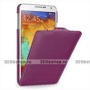 Кожаный чехол Melkco для Samsung Galaxy Note 3 N9000 фиолетовый - Melkco Leather Case Jacka Type Purple LC