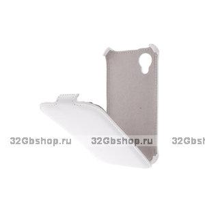 Чехол книжка Armor Case для Google Nexus 5 белый