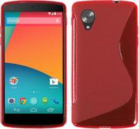Красный силиконовый чехол для Google Nexus 5 - S Style Silicone Case