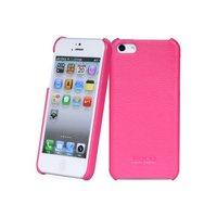 Кожаная накладка HOCO Duke для iPhone 5 / 5s / SE розовая