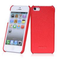 Кожаная накладка HOCO Duke для iPhone 5 / 5s / SE красная