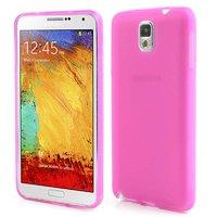 Матовый силиконовый чехол для Samsung Galaxy Note 3 N9000 розовый