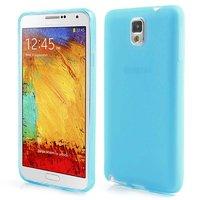 Матовый силиконовый чехол для Samsung Galaxy Note 3 N9000 голубой