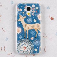 Накладка Lux Case для Samsung GT-I9190 Galaxy S4 Mini олененок и цветы