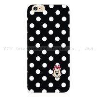Чехол накладка для iPhone 5 / 5s / SE черный Mini Mouse