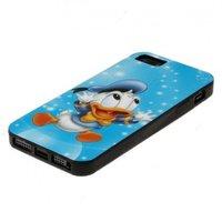 Силиконовый чехол для iPhone 5 / 5s / SE голубой Donald Dak