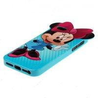 Силиконовый чехол Mickey Mouse для iPhone 5s / SE / 5 голубой