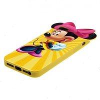 Силиконовый чехол Mickey Mouse для iPhone 5 / 5s / SE жёлтый