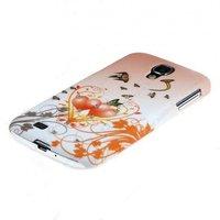 Чехол накладка для Samsung Galaxy S4 GT-I9500 со стразами коричневая с сердечками
