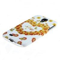 Чехол накладка для Samsung Galaxy S4 GT-I9500 со стразами Сердце из цветов
