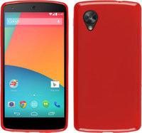 Силиконовый чехол для Google Nexus 5 красный