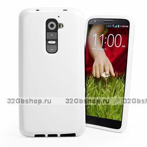 Белый силиконовый чехол для LG G2 D802