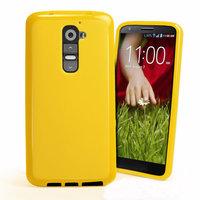 Желтый силиконовый чехол для LG G2 D802