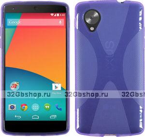 Силиконовый чехол X Style Case для Google Nexus 5 фиолетовый