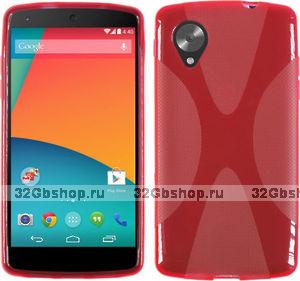 Силиконовый чехол X Style Case для Google Nexus 5 красный