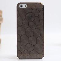 Черная прозрачная пластиковая накладка Water Cube Ultra Thin 0.5mm Black чехол для iPhone 5s / SE / 5
