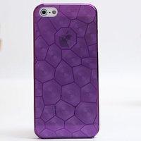 Фиолетовая прозрачная пластиковая накладка Water Cube Ultra Thin 0.5mm Purple чехол для iPhone 5s / SE / 5