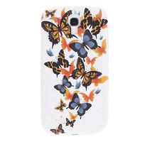 Силиконовый чехол для Samsung Galaxy S4 разноцветные бабочки