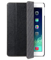 Кожаный чехол Melkco для iPad Air черный - Melcko Leather Case Slimme Cover Black LC