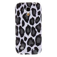 Силиконовый чехол для Samsung Galaxy S4 mini леопард черно-белый